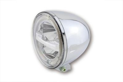5 3/4 inch LED Headlight CIRCLE, chrome