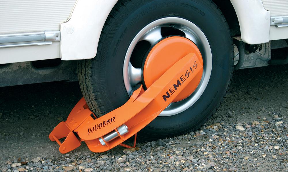 Caravan Trailer Boat Wheel Clamp
